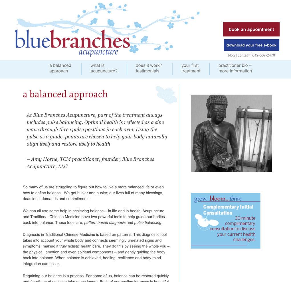 Blue Branches Acupuncture • Orange Jackalope Creative
